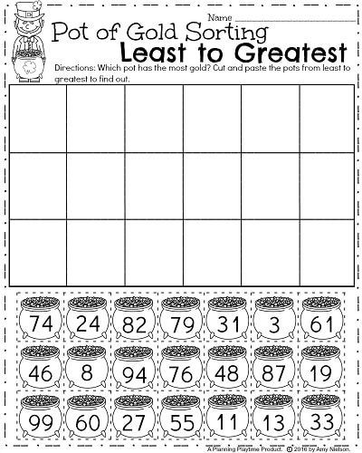 Sorting Worksheets for First Grade March First Grade Worksheets
