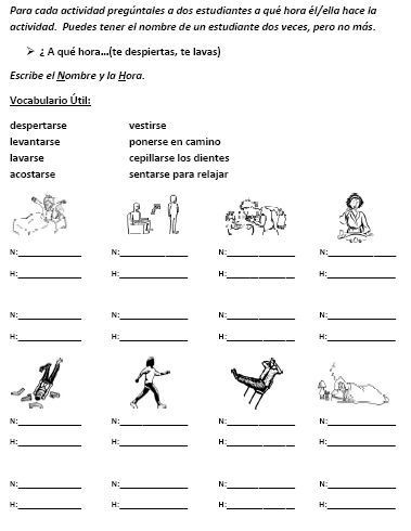 Spanish Reflexive Verbs Worksheet Printable Reflexive Verb Speaking Activity for the Entire Class that