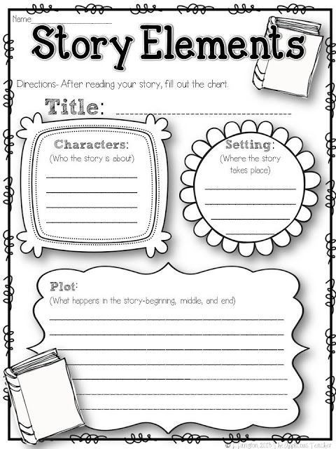 Story Elements Worksheet 5th Grade Five for Friday the 2nd Week In and A Freebie