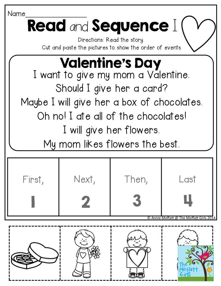 Story Sequencing Worksheets for Kindergarten February Fun Filled Learning
