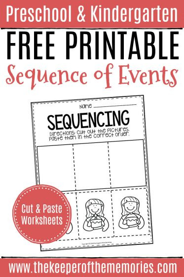 Story Sequencing Worksheets for Kindergarten Free Printable Sequence Of events Worksheets