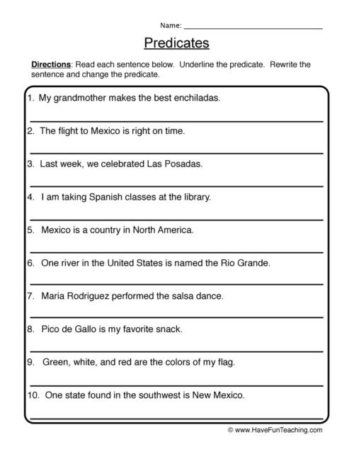 Subject Worksheets 3rd Grade Subject and Predicate Worksheets • Have Fun Teaching