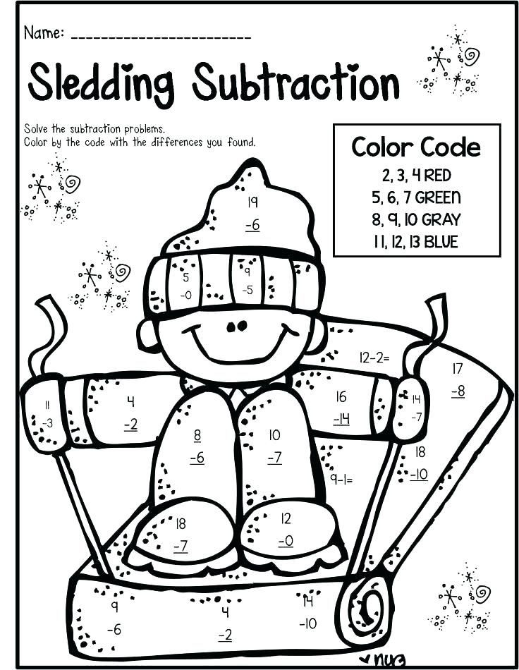 Subtraction Coloring Worksheets 2nd Grade Free Printable Coloring Addition Worksheets for 2nd Grade لم