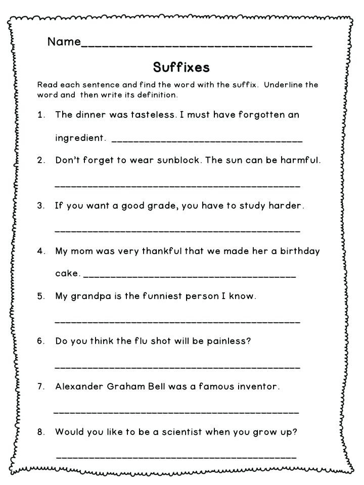 Suffix Worksheets for 4th Grade 3rd Grade Prefixes and Suffixes Worksheets Root Words