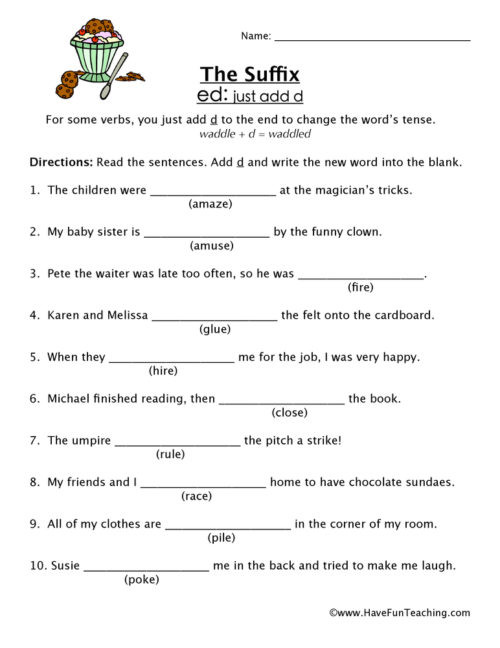 Suffixes Worksheets for 3rd Grade Suffixes Worksheets • Have Fun Teaching