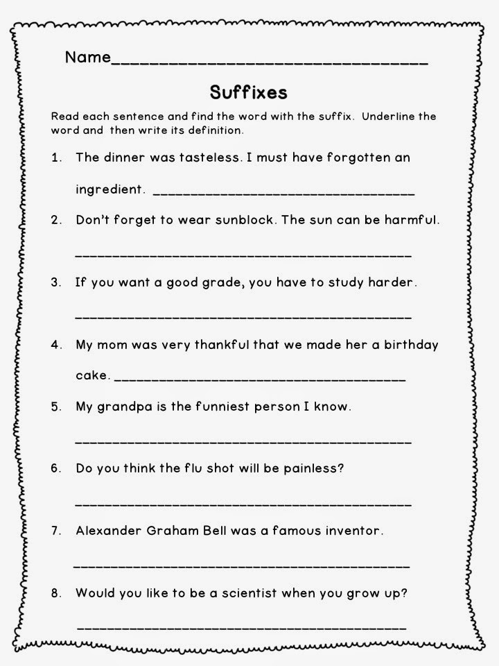"Suffixes Worksheets for 3rd Grade the Best Of Teacher Entrepreneurs Language Arts ""prefixes"