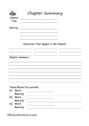 Summary Worksheets 5th Grade 33 Free Esl Summary Worksheets