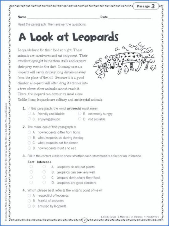 Summary Worksheets 5th Grade Everyday Math Grade 4 Review Main Idea Worksheets 5th Grade