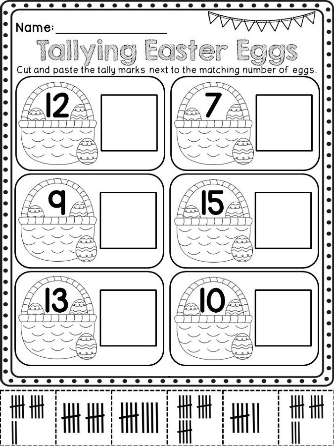 Tally Mark Worksheets for Kindergarten Tally Mark Worksheets Printable