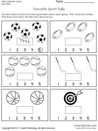 Tally Mark Worksheets for Kindergarten Tally Marks to 5 Worksheet Collection