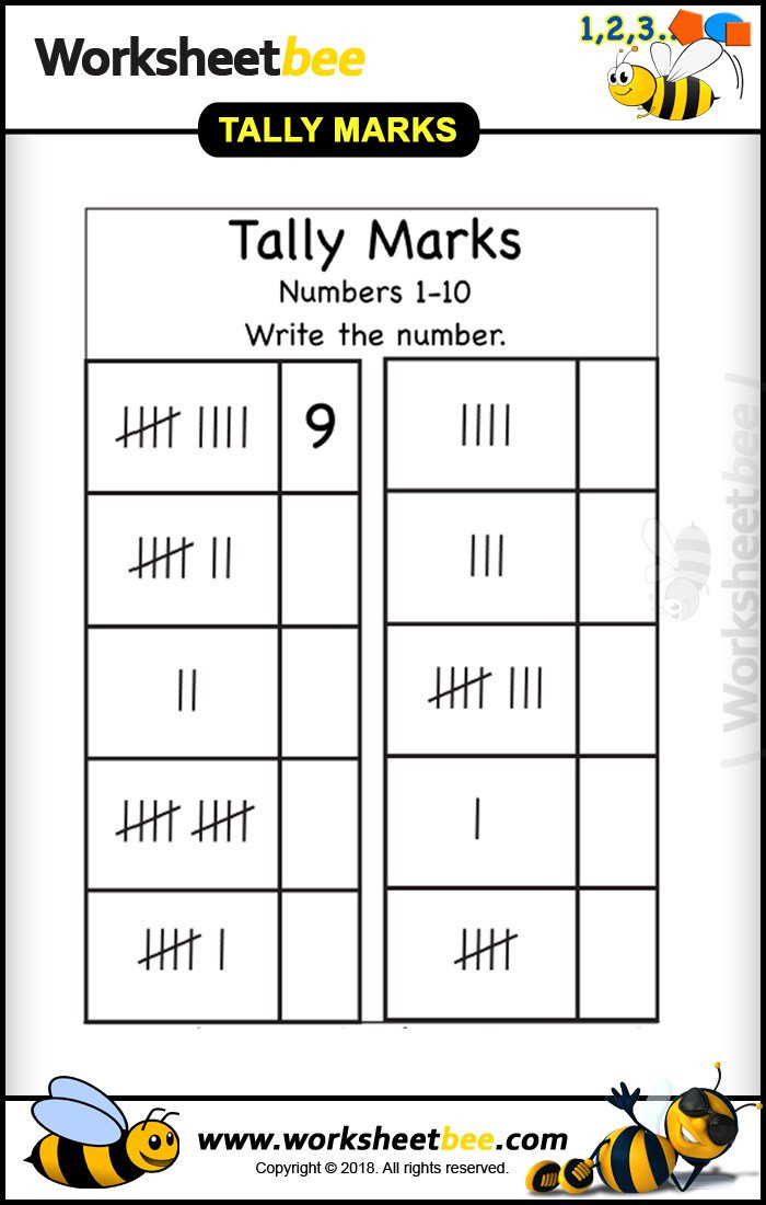 "Tally Mark Worksheets for Kindergarten Worksheet Bee On Twitter ""write the Number Tally Marks"