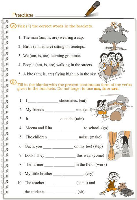 Tenses Worksheets for Grade 5 Grade 3 Grammar Lesson 8 Verbs – the Present Continuous