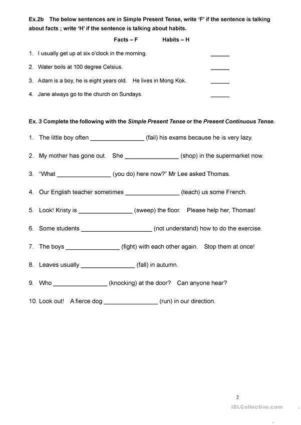 Tenses Worksheets for Grade 6 Tenses Worksheet for Grade 3 English Esl Worksheets for