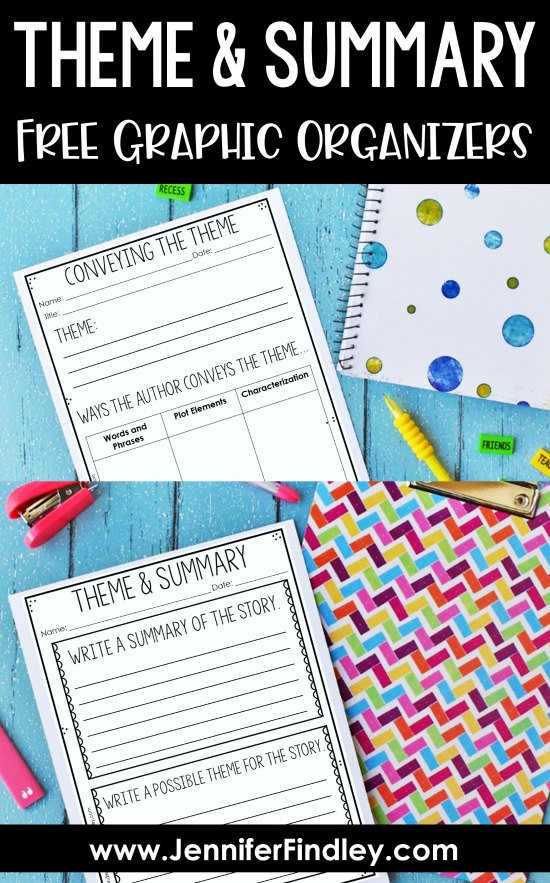 Theme Worksheet Grade 4 Teaching theme & Summarizing Free Reading Graphic