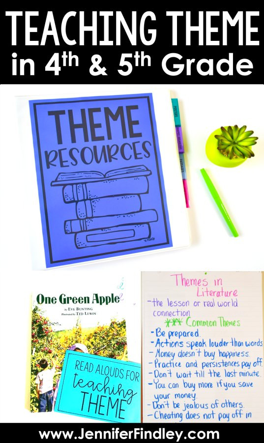 Theme Worksheet Grade 4 Teaching theme In the Upper Grades and A Freebie Teaching