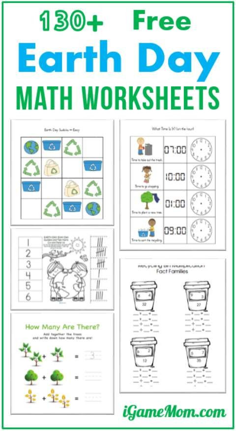 Theme Worksheets Grade 5 130 Free Earth Day Math Printable Worksheets for Kids