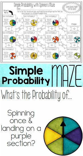 Theoretical Probability Worksheets 7th Grade theoretical Probability Of Simple events Maze with