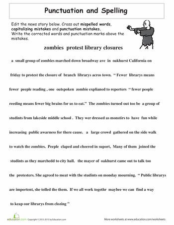 Third Grade Editing Worksheets 12 Best Proofreading Images