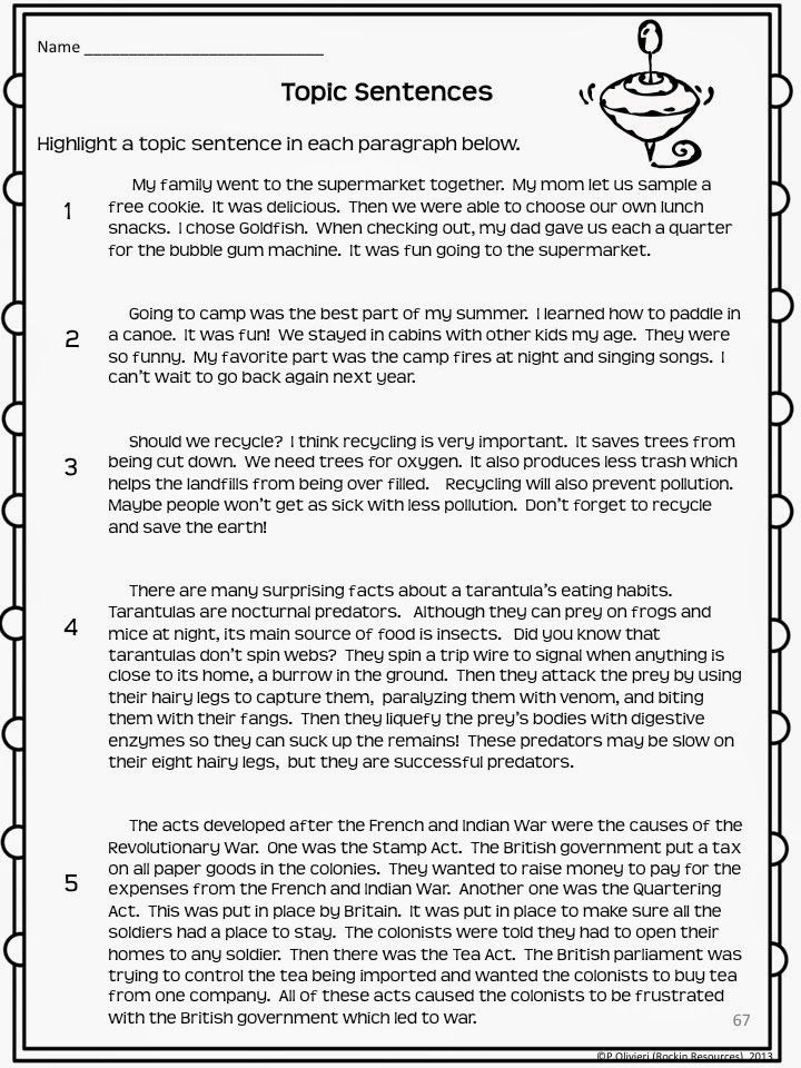 Topic Sentence Worksheet 2nd Grade How to Teach Paragraph Writing