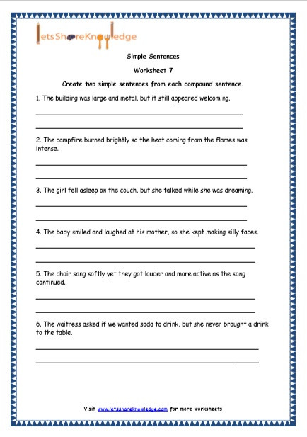 Topic Sentences Worksheets Grade 4 Grade 4 English Resources Printable Worksheets topic Simple