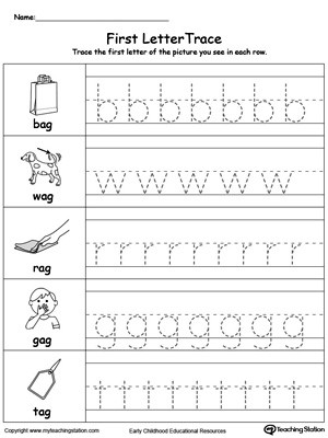 Tracing Lowercase Letters Worksheets Lowercase Letter Tracing Ag Words