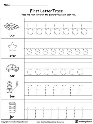 Tracing Lowercase Letters Worksheets Lowercase Letter Tracing Ar Words