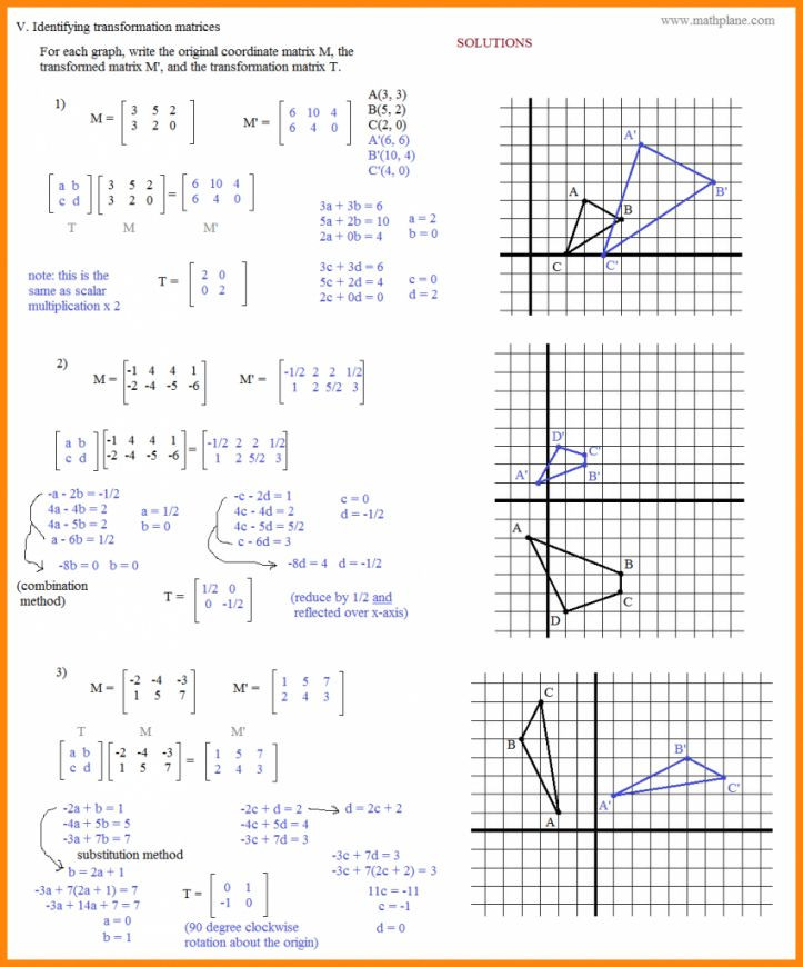 Translation Math Worksheet Pdf 16 Pdf Rotations Geometry Worksheet