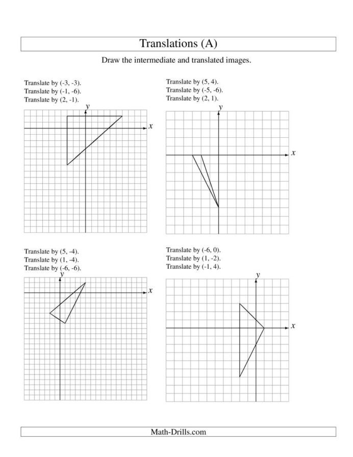 "Translation Math Worksheet Pdf Translation Math Worksheets لم يسبق له Ù…Ø ÙŠÙ"" الصور Tier3"
