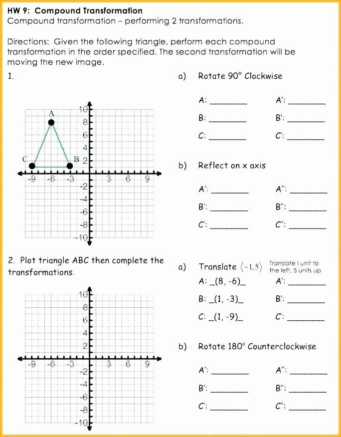 Translation Worksheets Math Pin On Grade Math Worksheets & Sample Printables