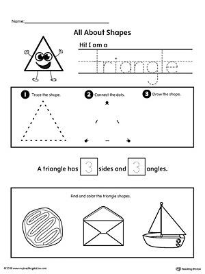 Triangle Worksheet for Kindergarten All About Triangle Shapes
