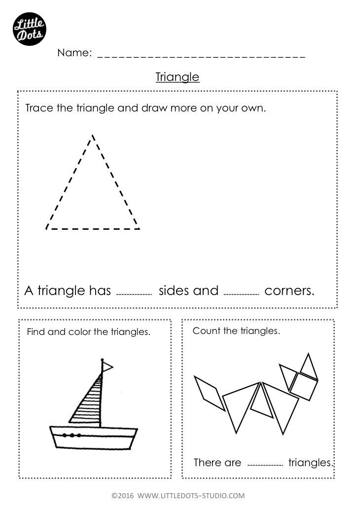 Triangle Worksheet for Kindergarten Free Kindergarten Triangle Shape Worksheet Learn the Basic