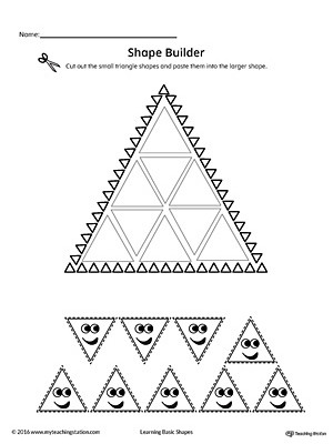 Triangle Worksheet for Kindergarten Geometric Shape Builder Worksheet Triangle