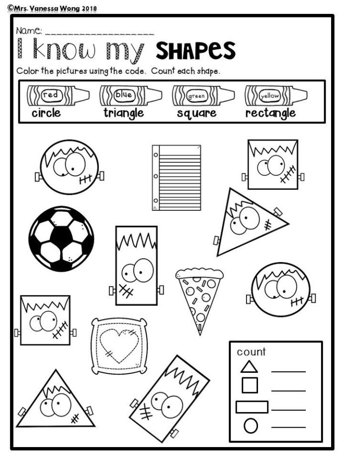 Triangle Worksheet for Kindergarten Halloween Kindergarten Worksheets and Activities the