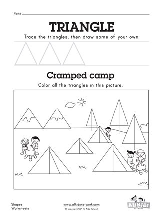 Triangle Worksheet for Kindergarten Triangle Worksheet