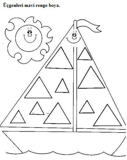 Triangle Worksheet for Kindergarten Triangle Worksheets for Preschool Trace and Color