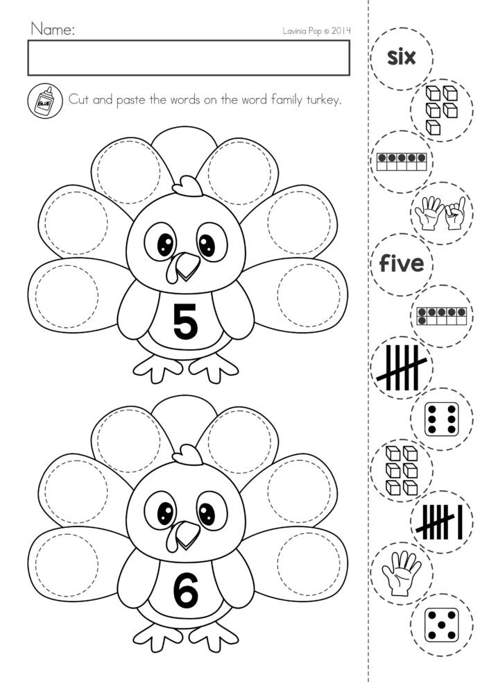 Turkey Math Worksheet Thanksgiving Math Literacy Worksheets and Activities Free