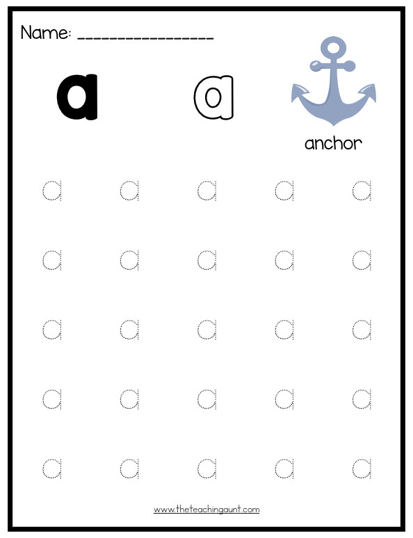 Uppercase Letter Tracing Worksheets Lowercase Letters Tracing Worksheets Set 1 the Teaching Aunt