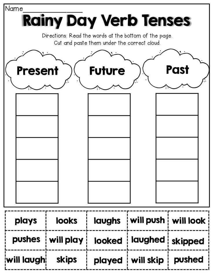 Verb Tense Worksheets 1st Grade Spring Math and Literacy 1st Grade