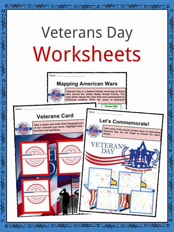 Veterans Day Math Worksheets Veterans Day Facts Worksheets & Historical Information for