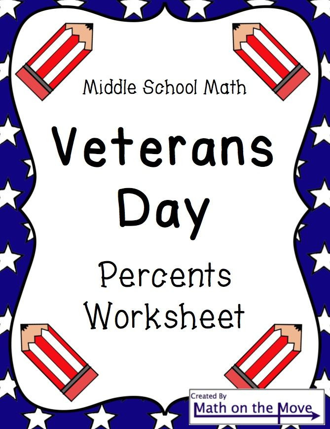 Veterans Day Math Worksheets Veterans Day Math Worksheet Percents