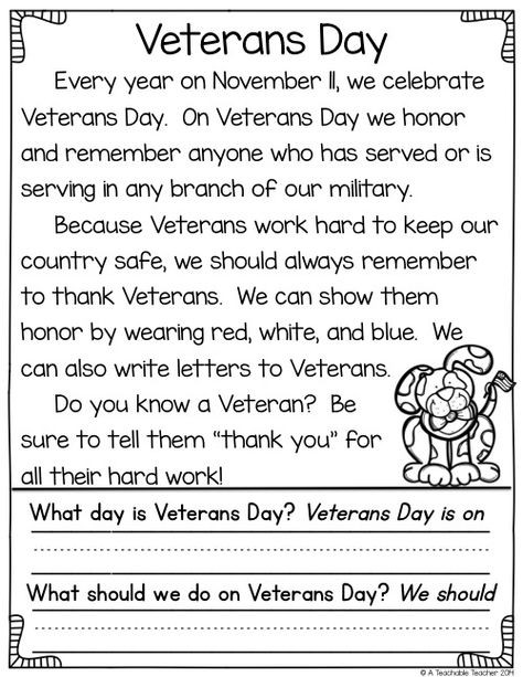 Veterans Day Math Worksheets Veterans Day