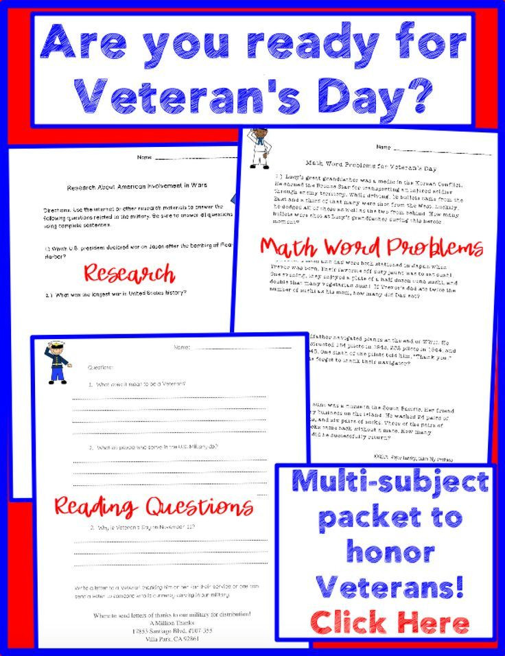 Veterans Day Math Worksheets Veterans Day Worksheets Print and Go Activities