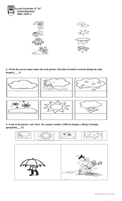 Vocabulary Worksheets for 1st Graders Weather 1st Grade English Esl Worksheets for Distance