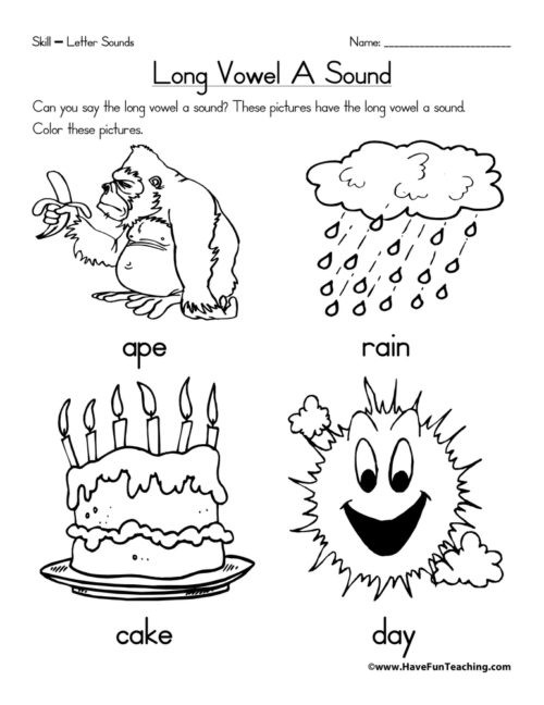 Vowel Worksheets for Kindergarten Kindergarten Long Vowels Worksheets • Have Fun Teaching