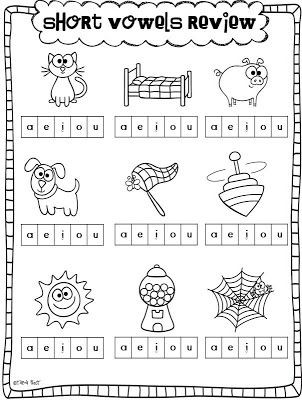 Vowel Worksheets for Kindergarten Short Vowels and A Freebie
