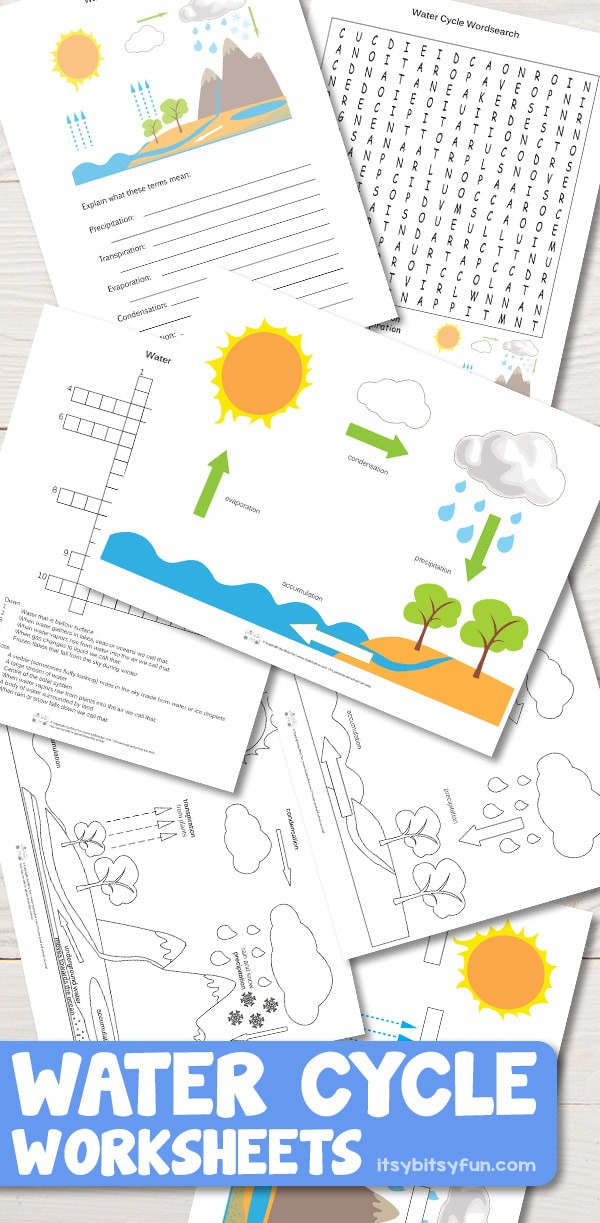 Water Cycle Worksheet Kindergarten Free Printable Water Cycle Worksheets Diagrams
