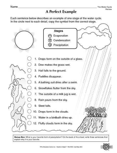Water Cycle Worksheets 2nd Grade Water Cycle Stages Practice Sheet