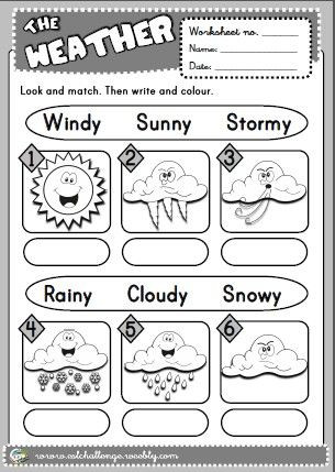 Weather Worksheets for First Graders Eslchallenge English Teaching Resources English Yes 1
