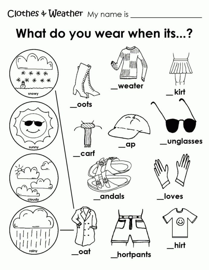 Weather Worksheets for First Graders Worksheet Free Coloring Clothing Worksheet Weather
