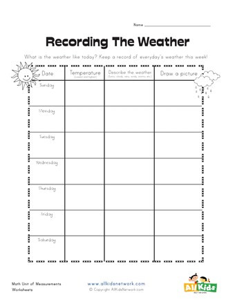 Weather Worksheets for Second Grade Weather Graphic organizer